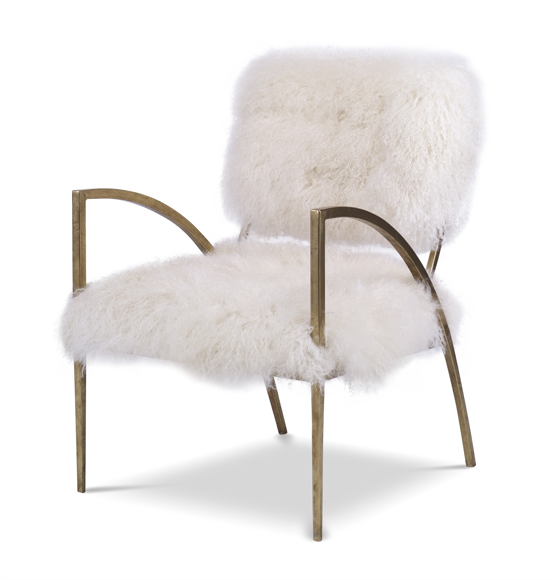Sylvie Hair On Hide Metal Chair