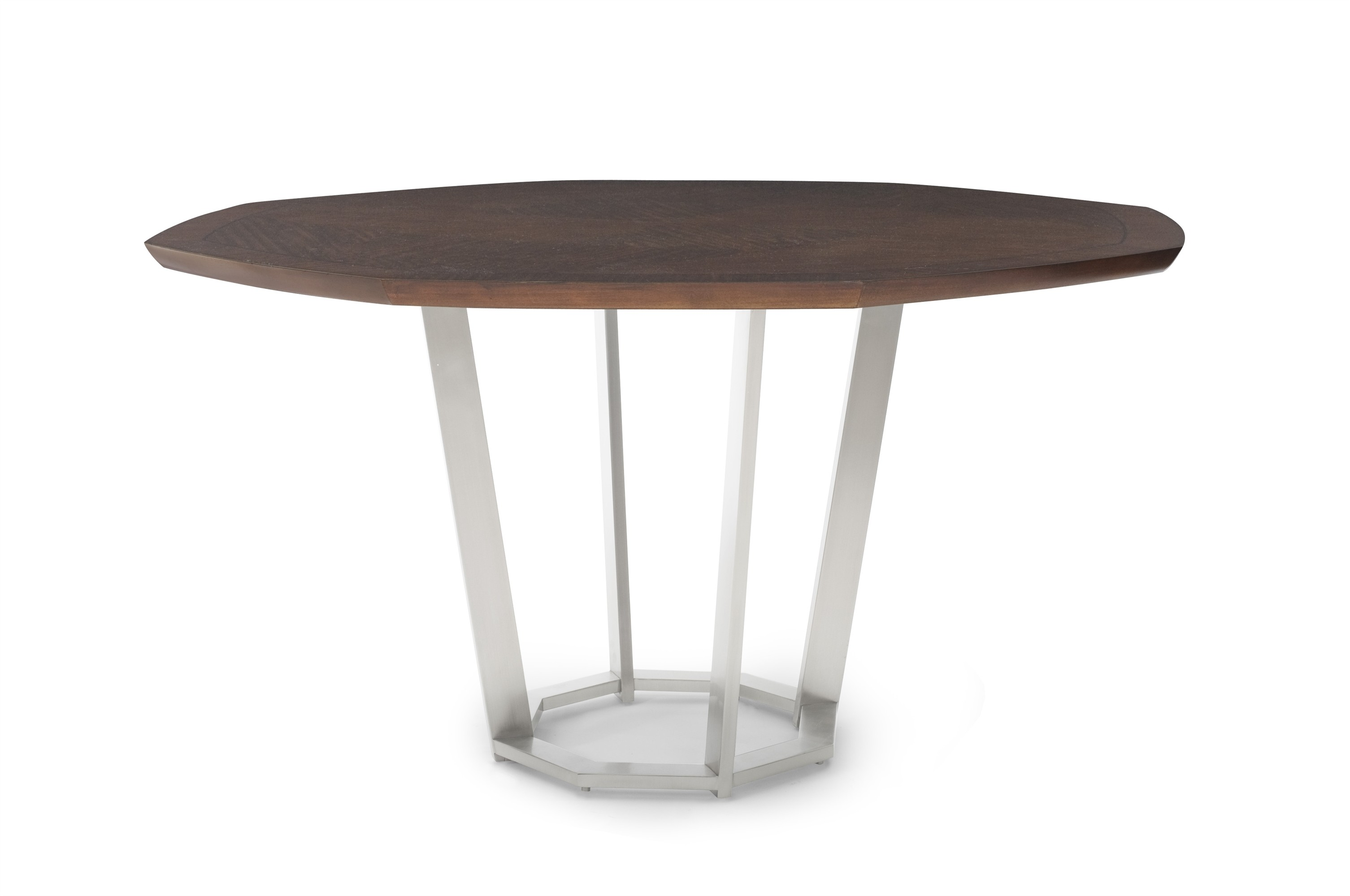 Sunburst Dining Table With Metal Base