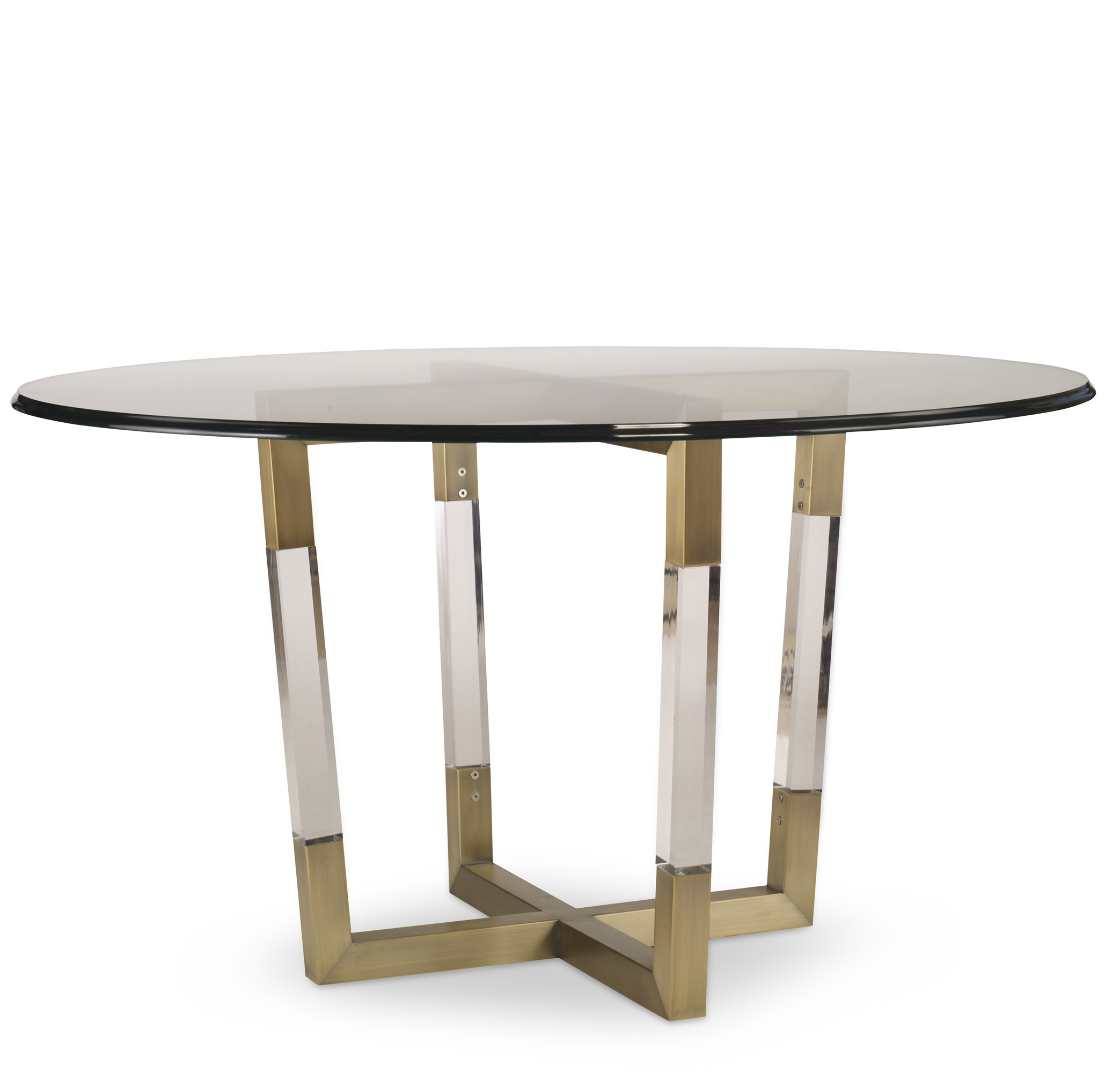 Metal/Acrylic Dining Table Base For Glass Tops