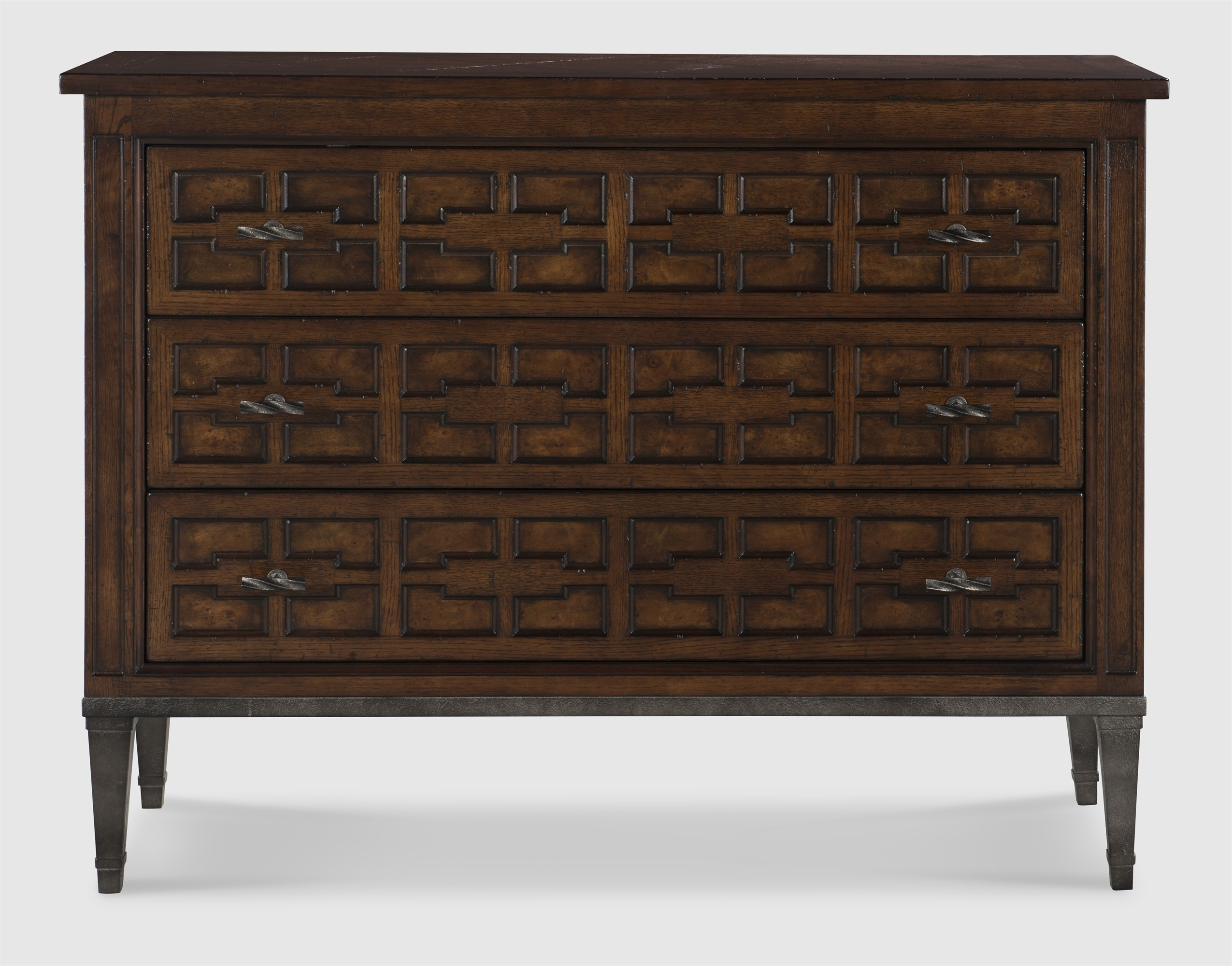 Casa Bella Burl Drawer Chest - Sierra Finish