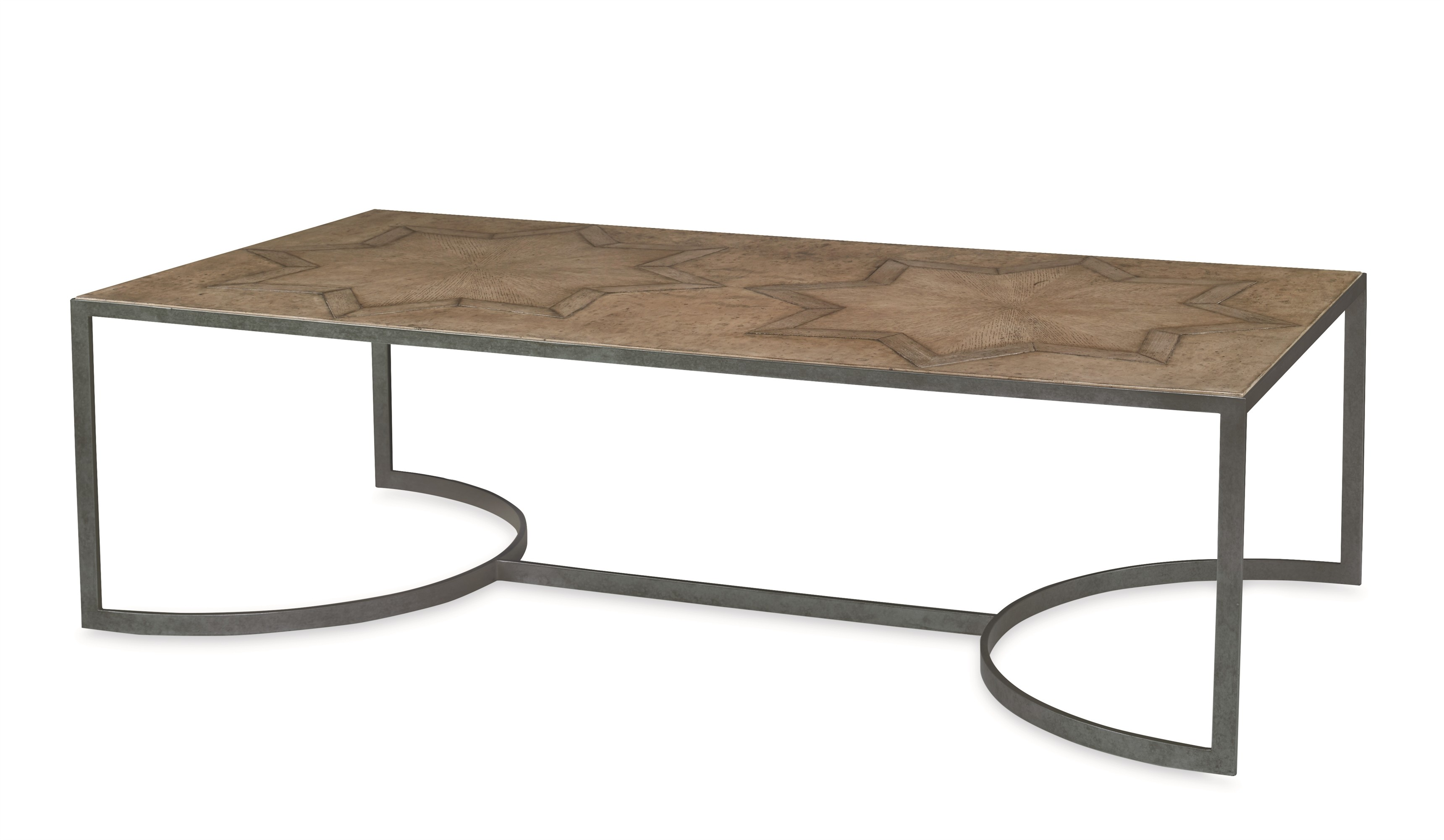 Casa Bella Starburst Cocktail Table - Timber Gray Finish