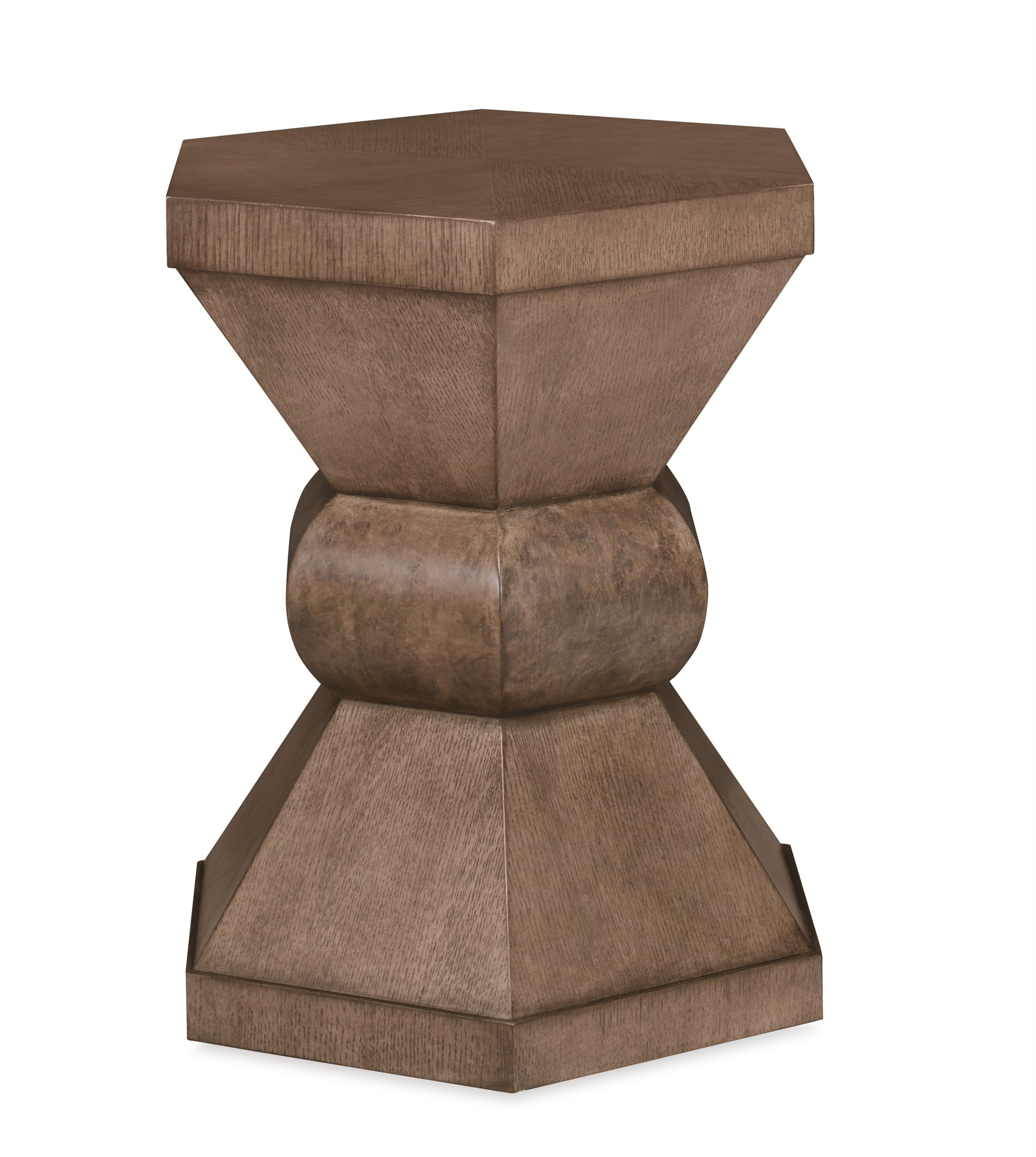 Casa Bella Hexagonal Chairside Table - Timber Gray Finish