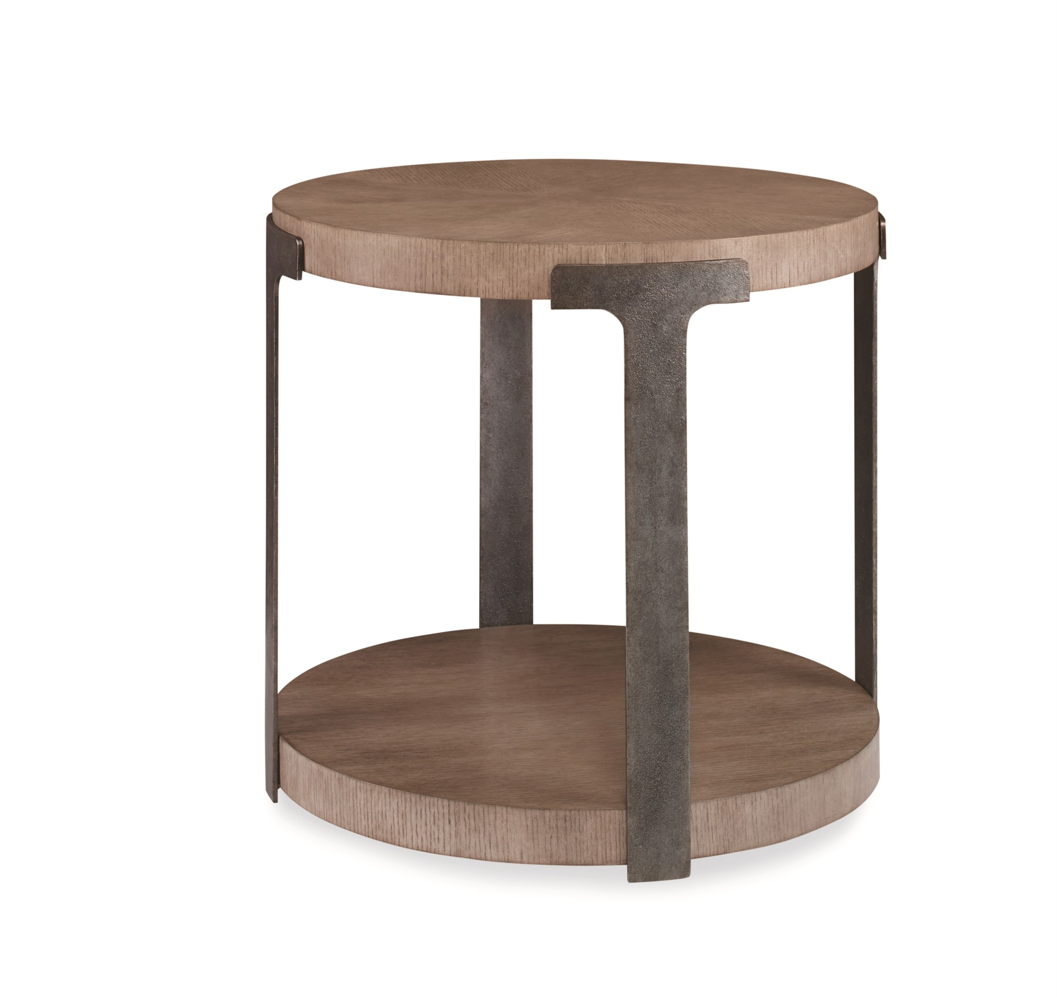 Casa Bella Sunburst Chairside Table - Timber Gray Finish