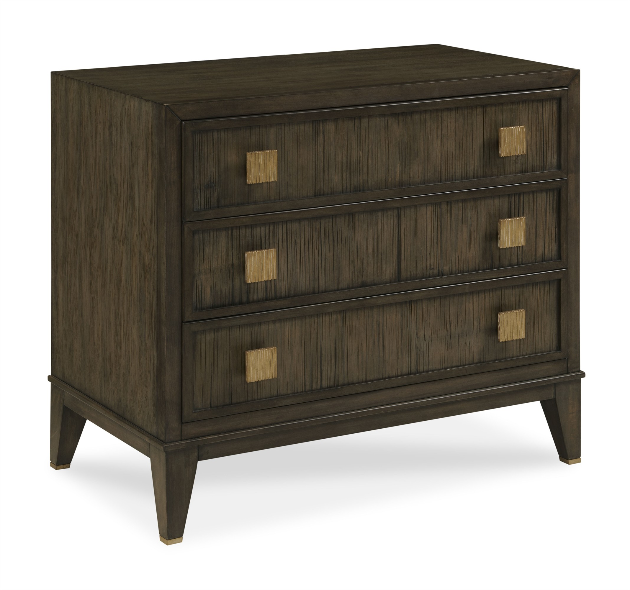 Carlyle 3 Drawer Nightstand-Mink Grey