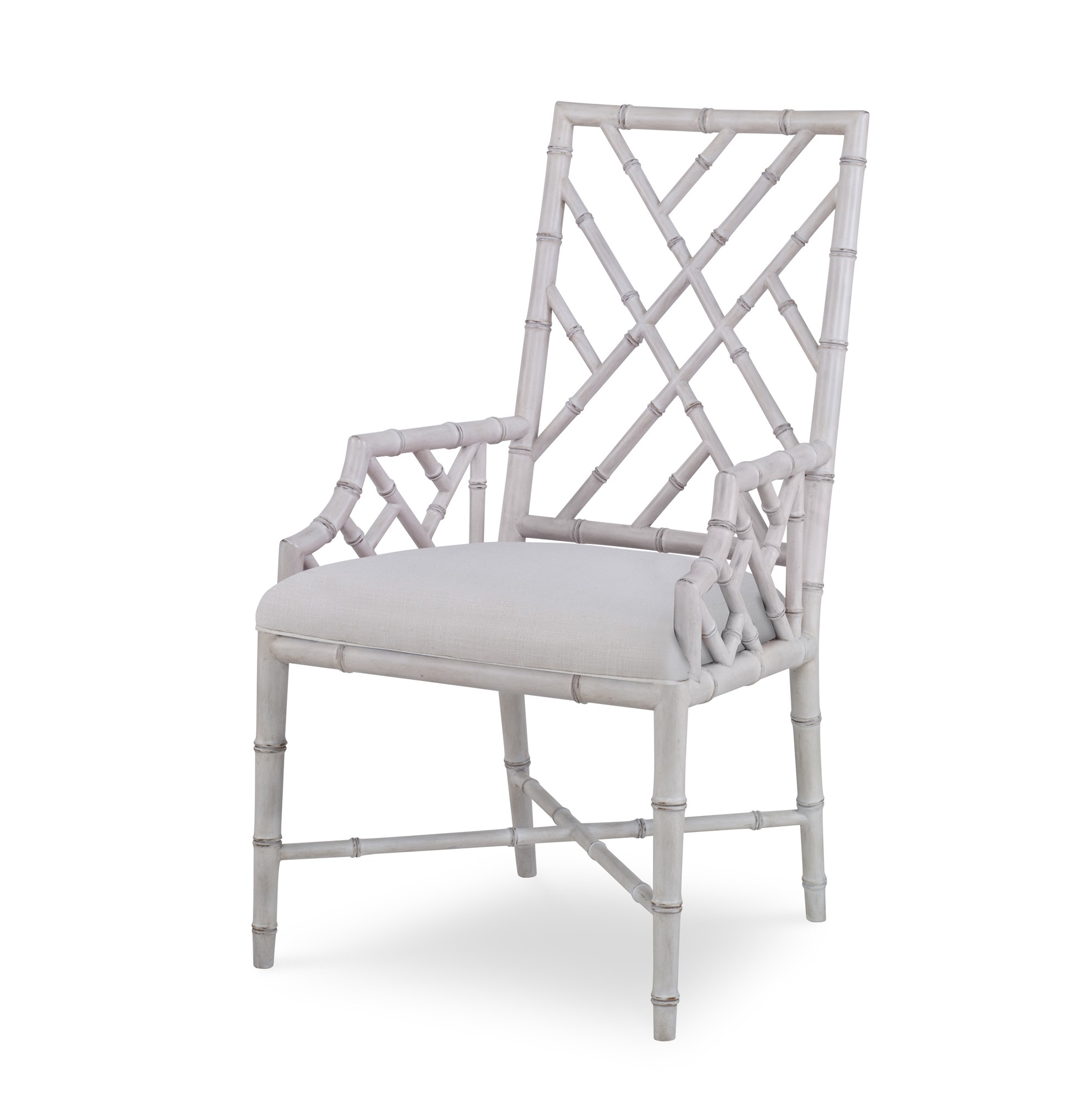 Brighton Arm Chair-Antique White/Flax