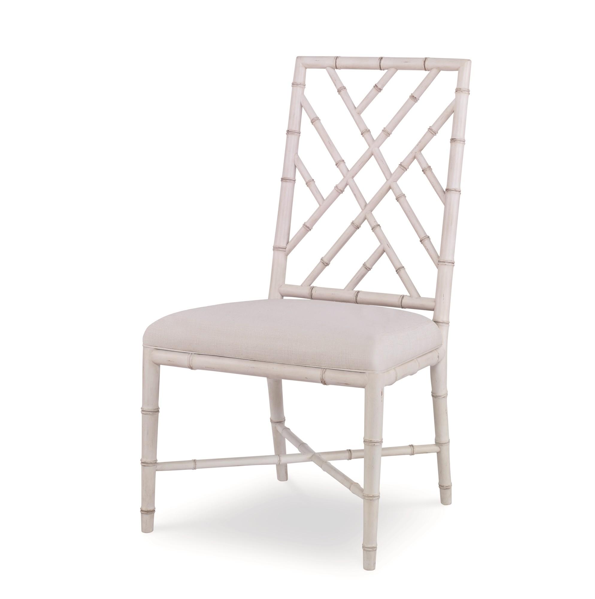 Brighton Side Chair-Antique White/Flax