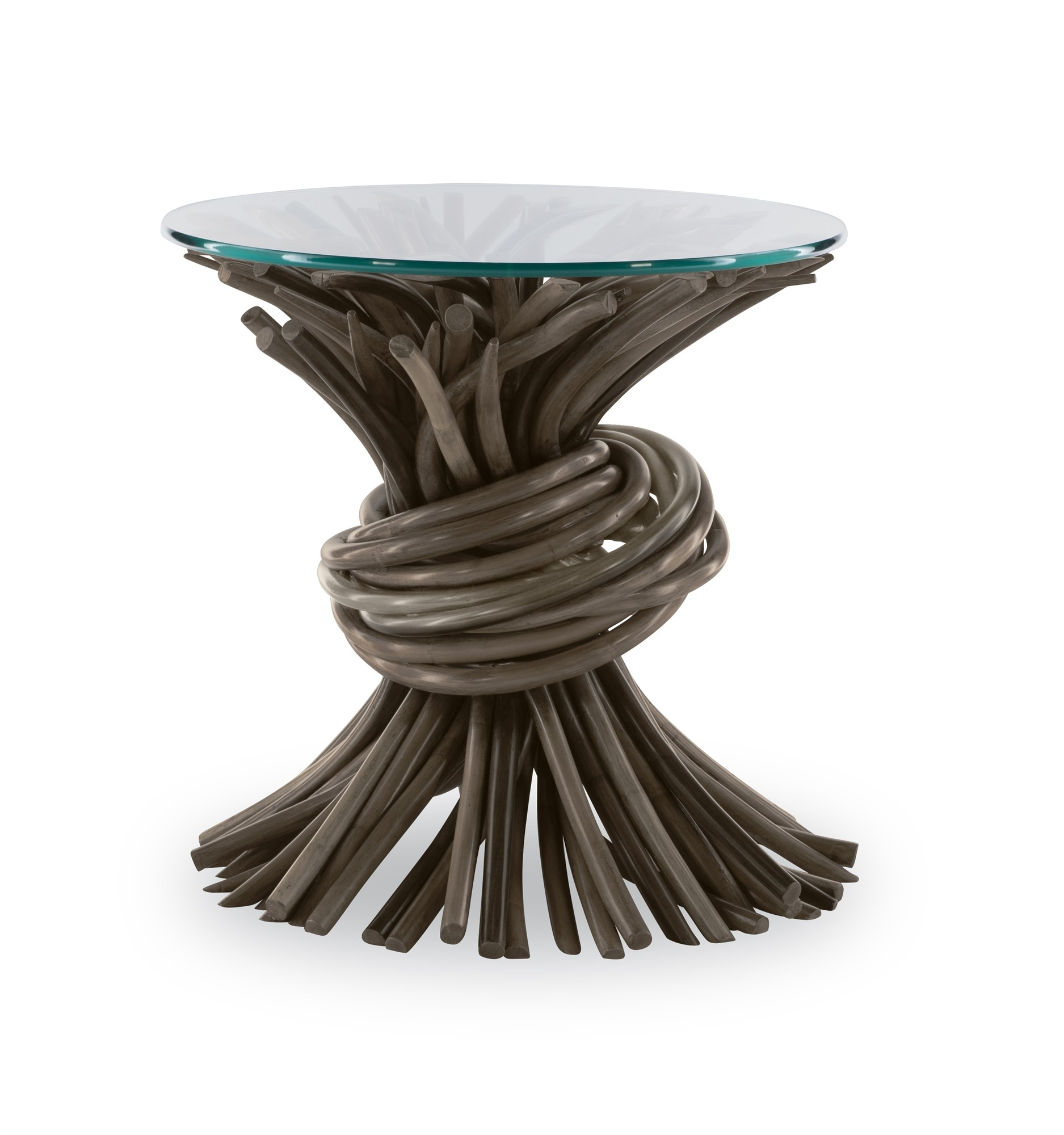 Knot End Table-Grey