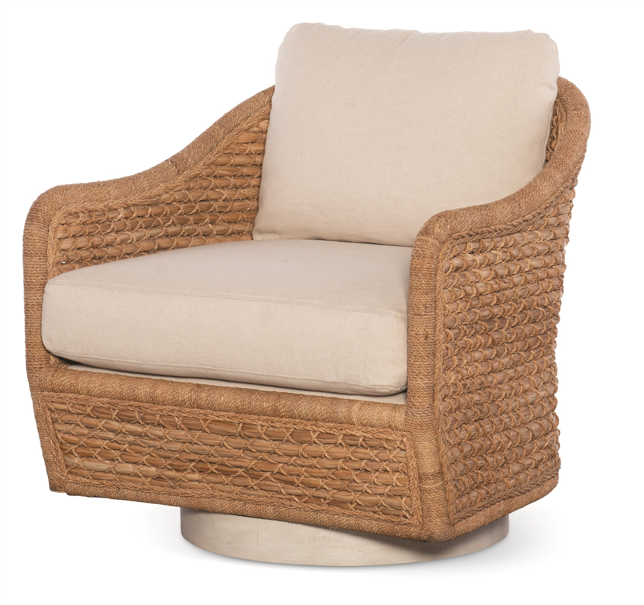 Pompano Swivel Lounge Chair - Natural/Flax