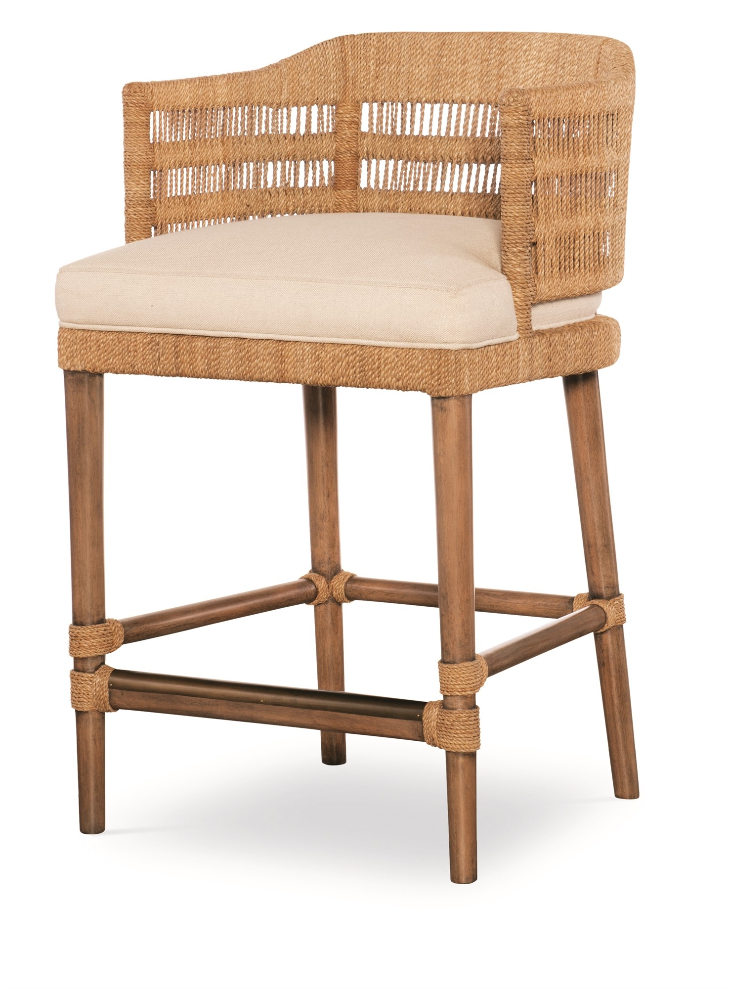 Boca Counter Stool - Natural/Flax