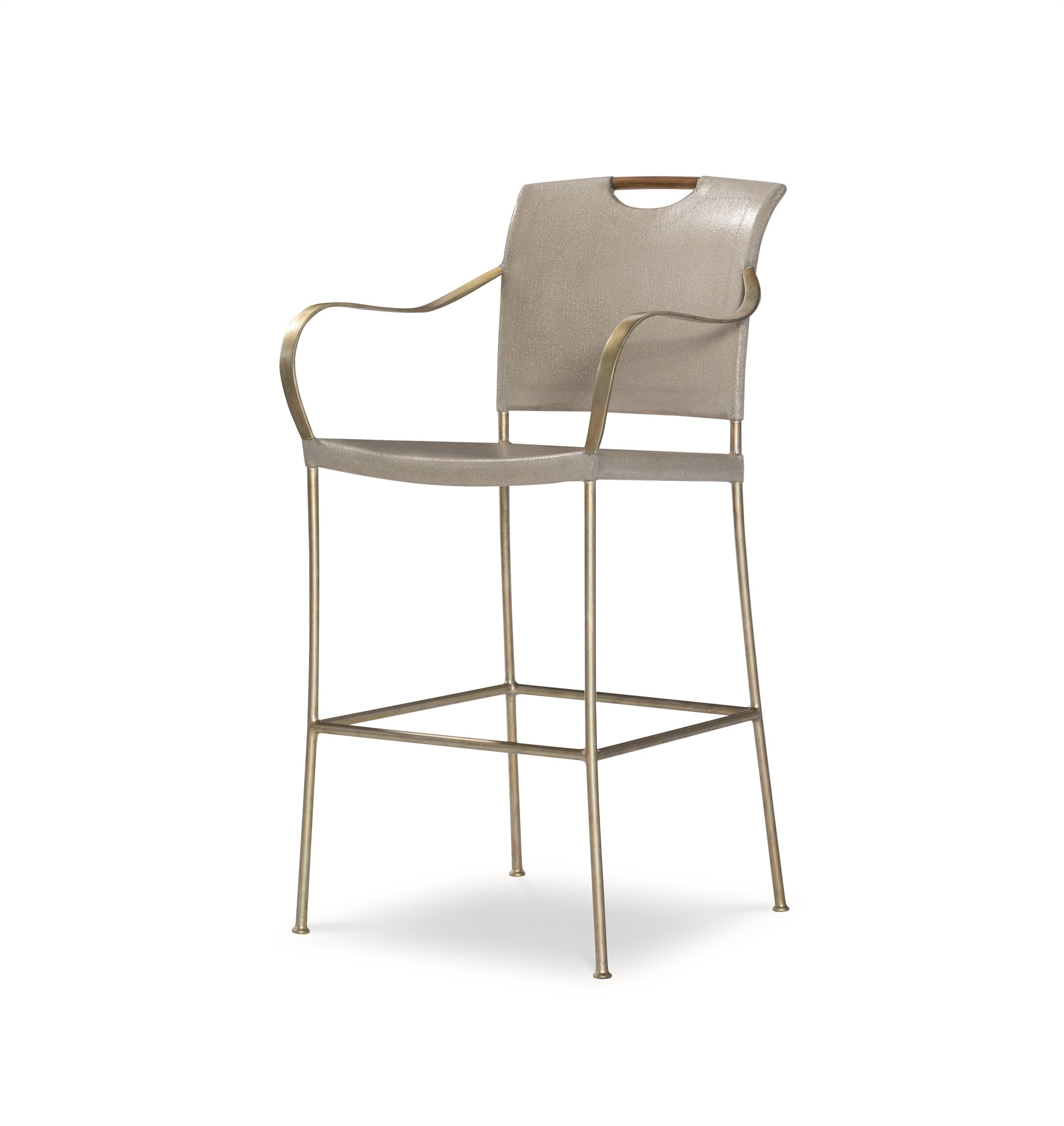 Canvas Bar Stool-Dove Grey