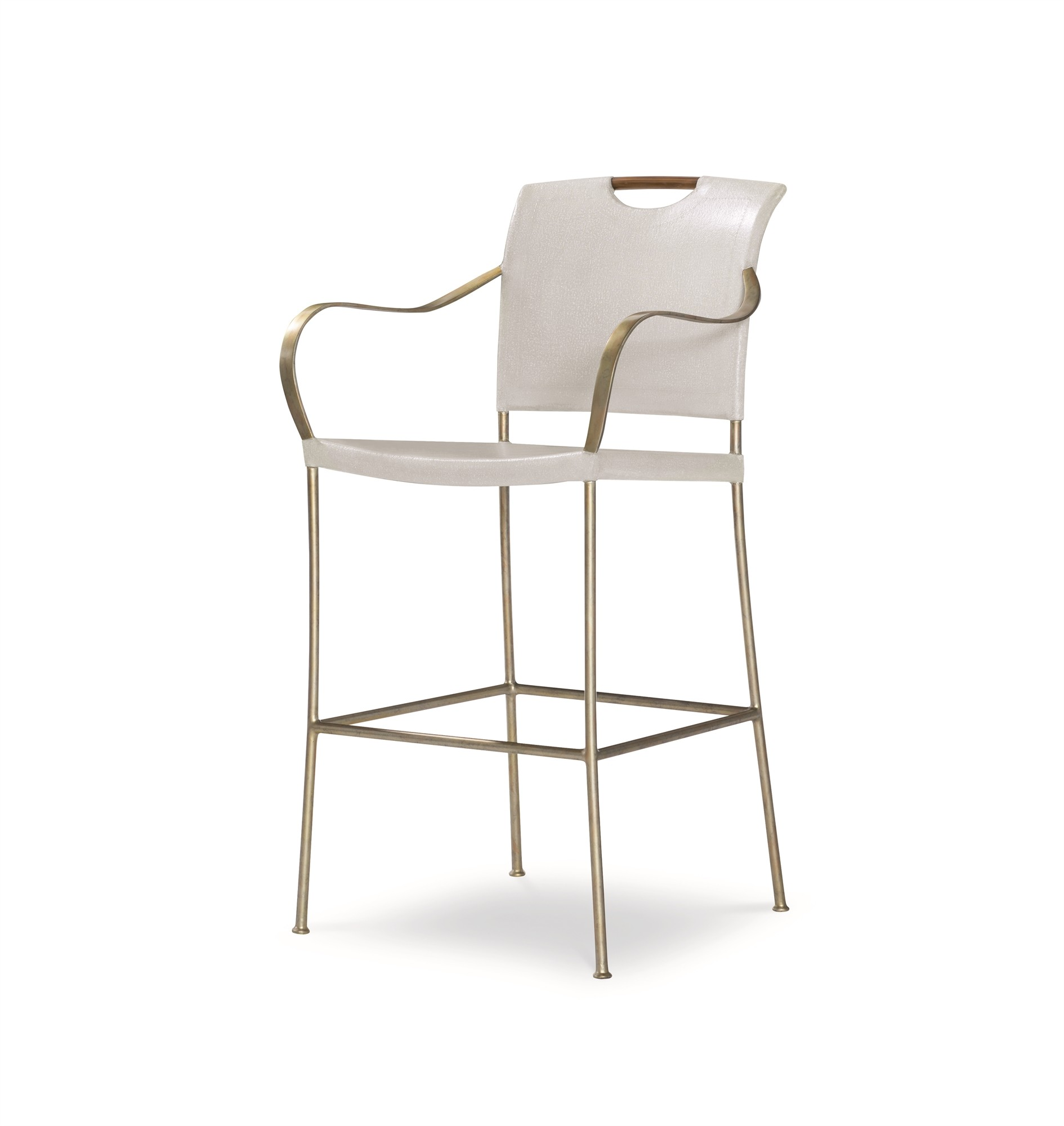 Canvas Bar Stool-Worn Ivory