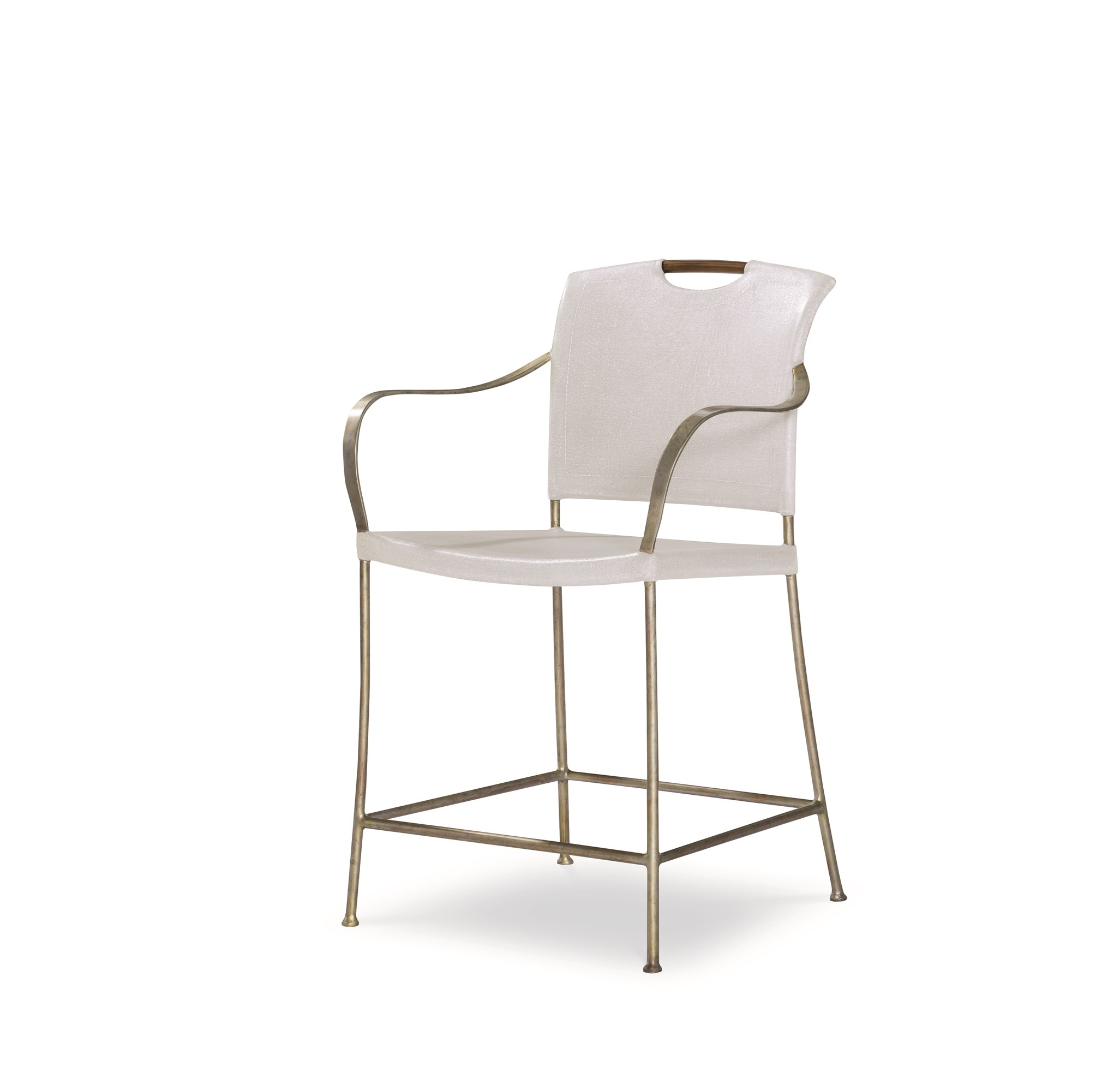 Canvas Counter Stool-Worn Ivory