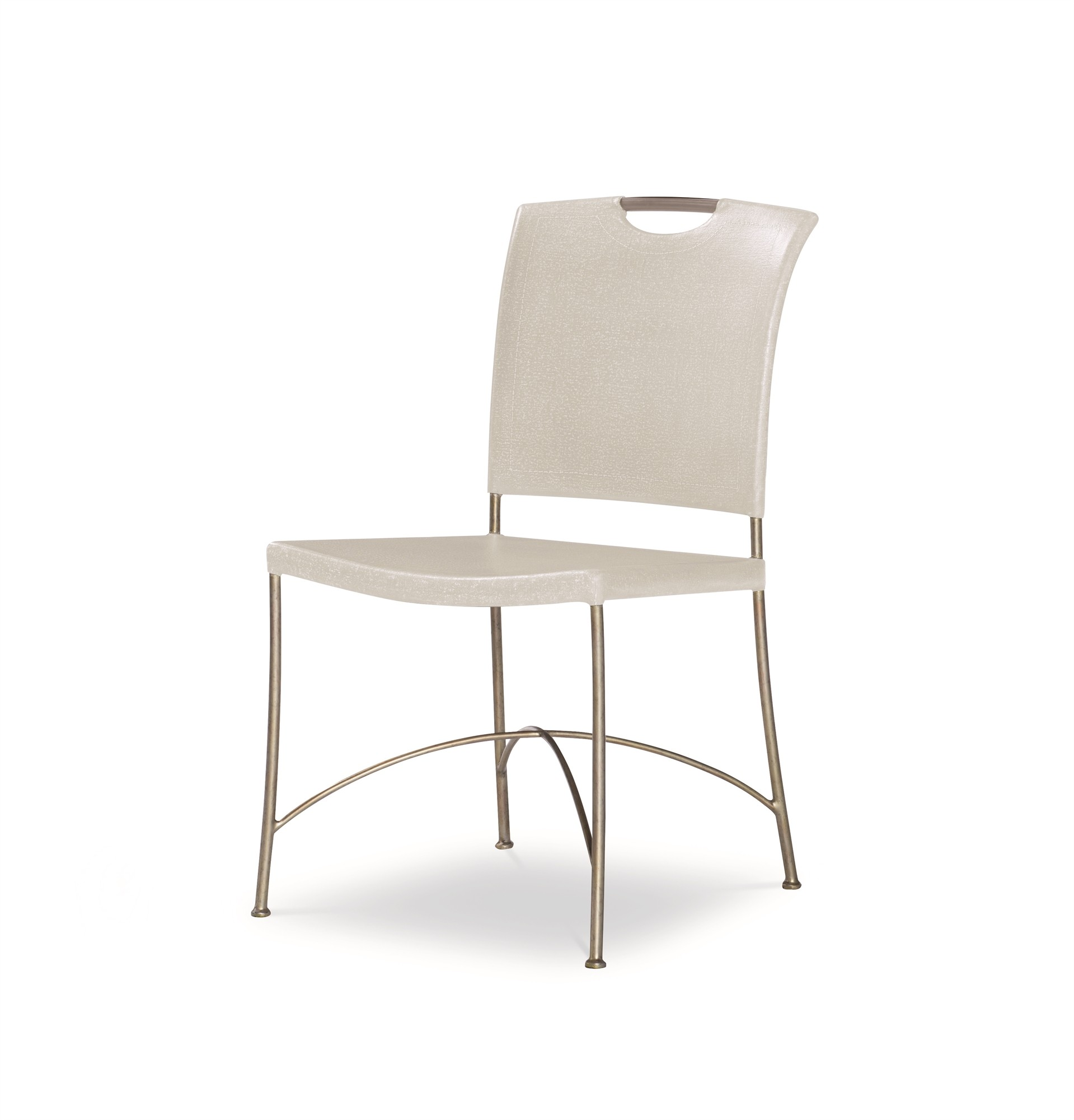 Canvas Side Chair-Worn Ivory