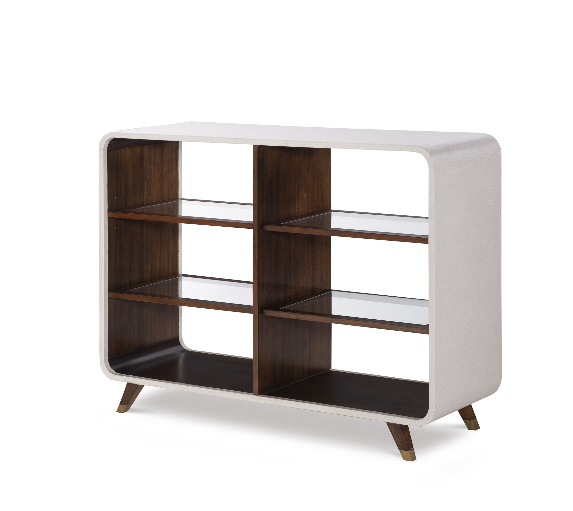 Canvas Legged Open Bookcase-Ivory