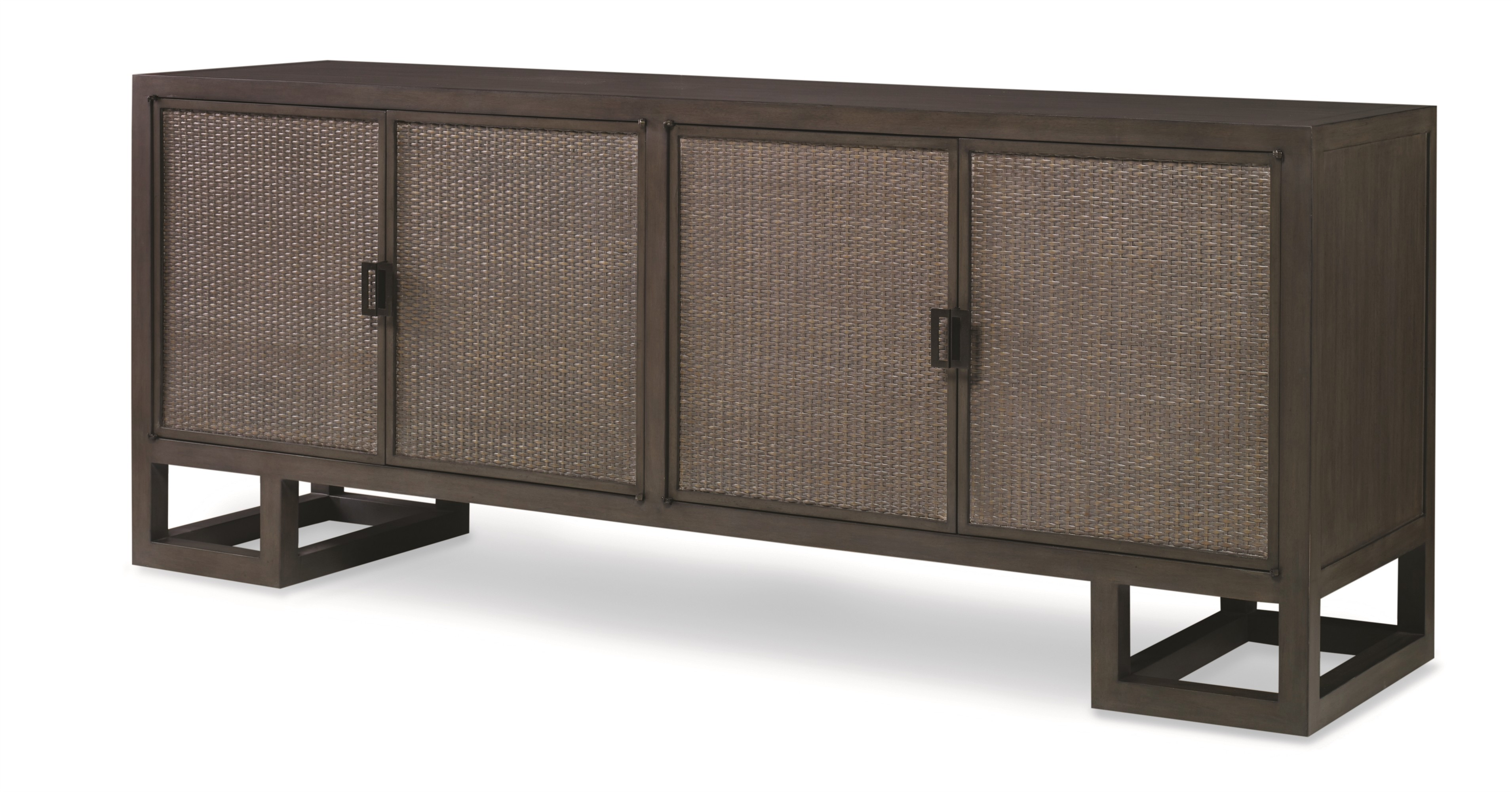 Mackinaw 4 Door Credenza-Mink Grey