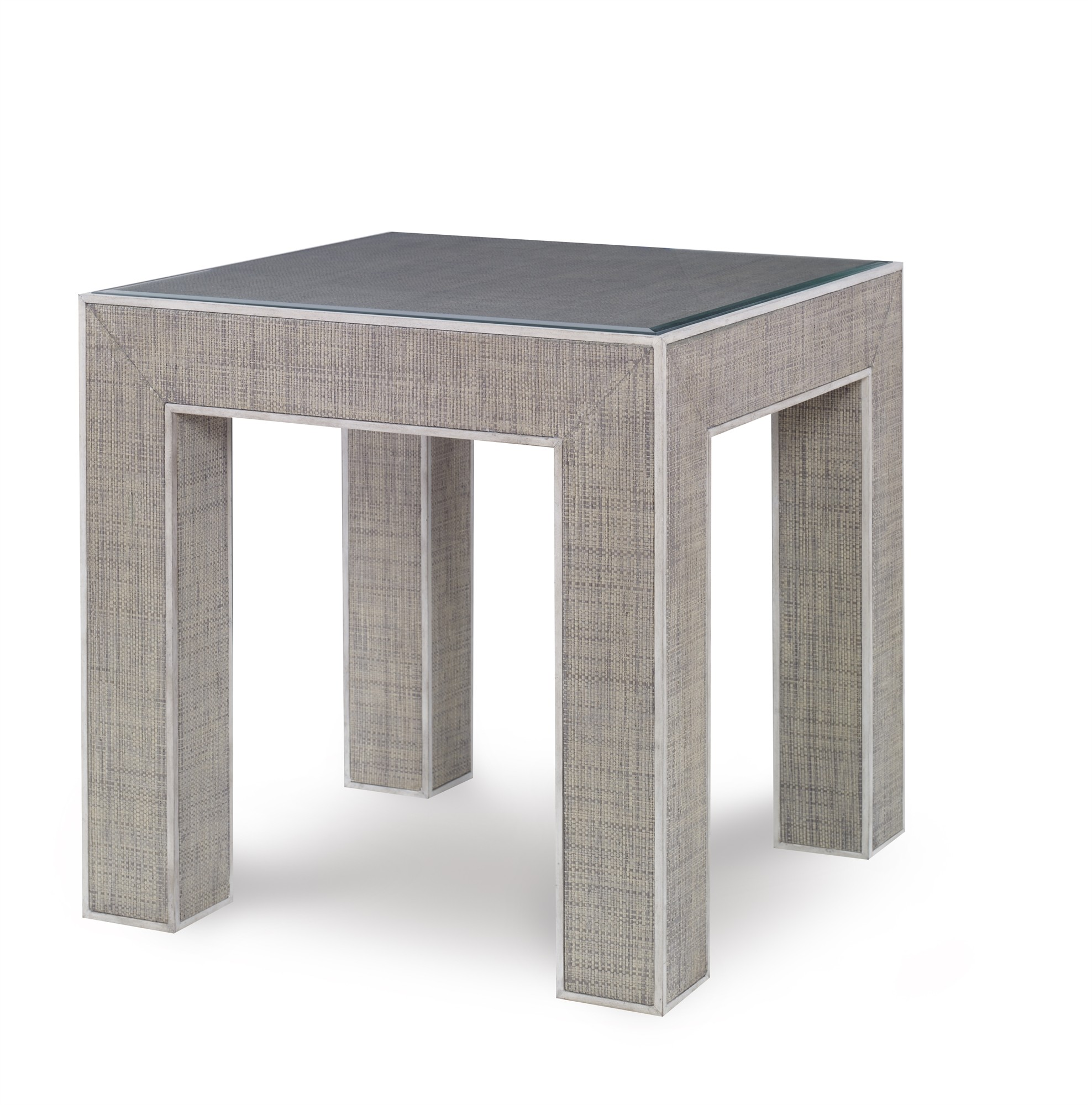 Newport End Table-French Grey/Peninsula