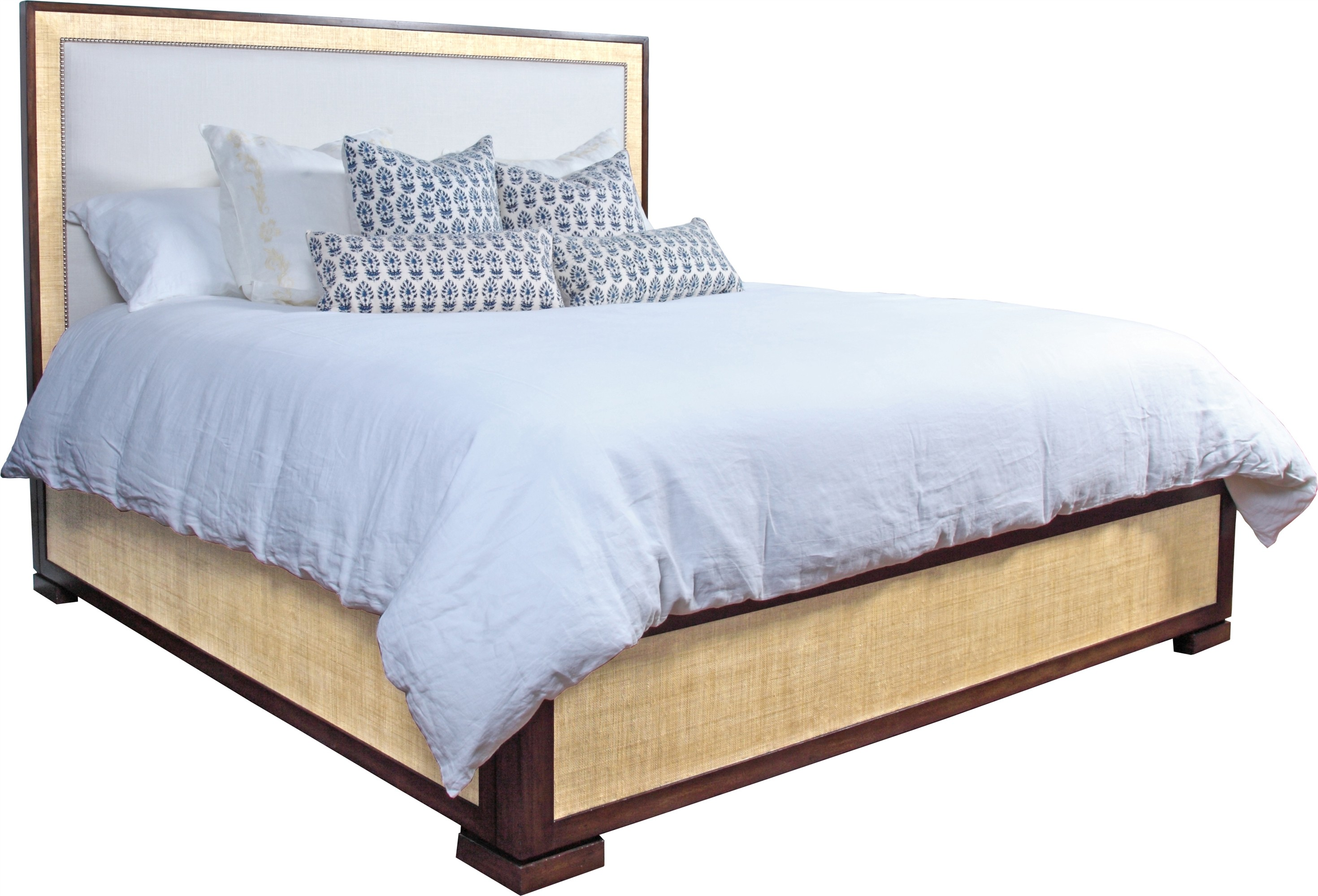 San Remo King Bed-Sand/Flax
