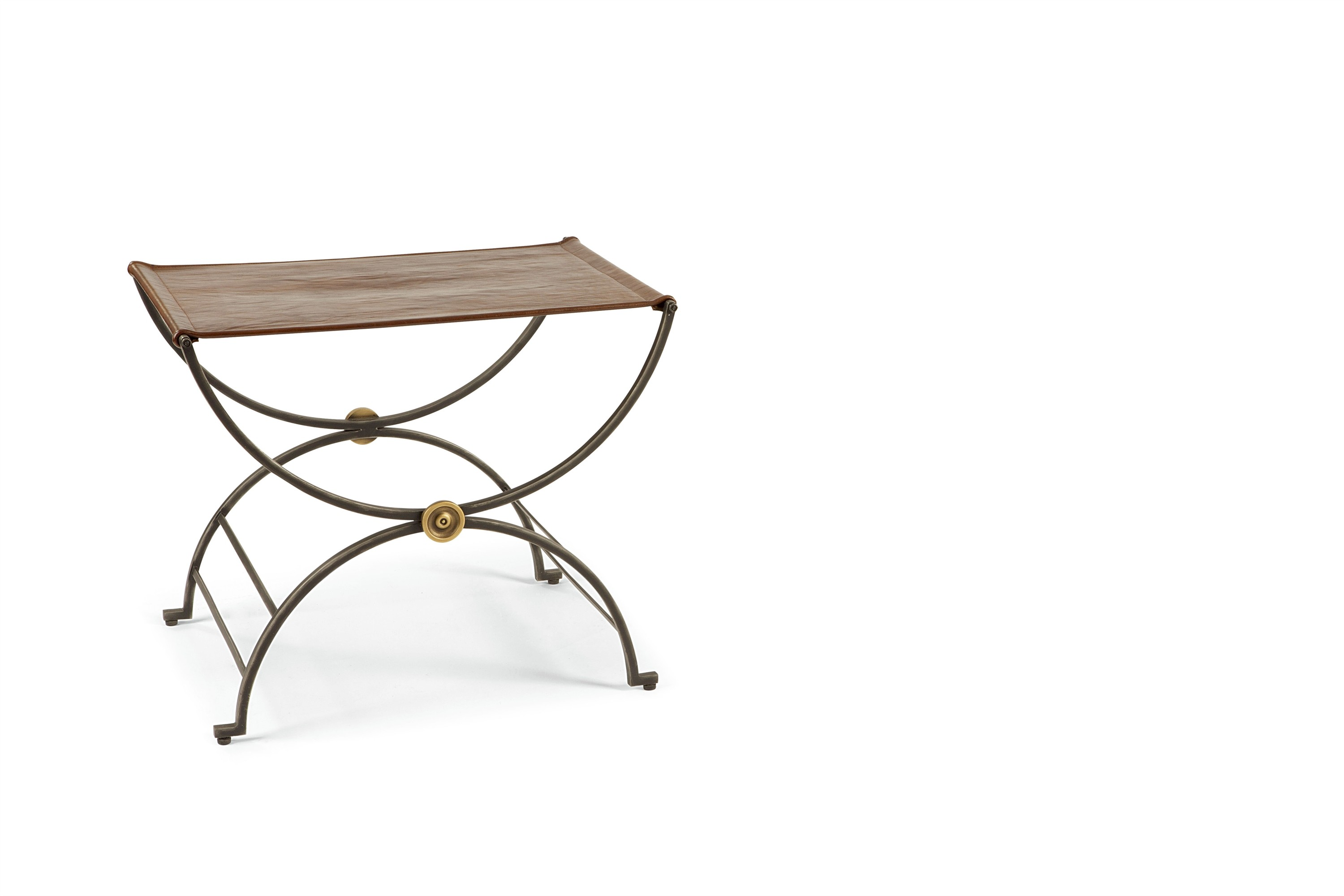 Niles Bench With Leather Seat