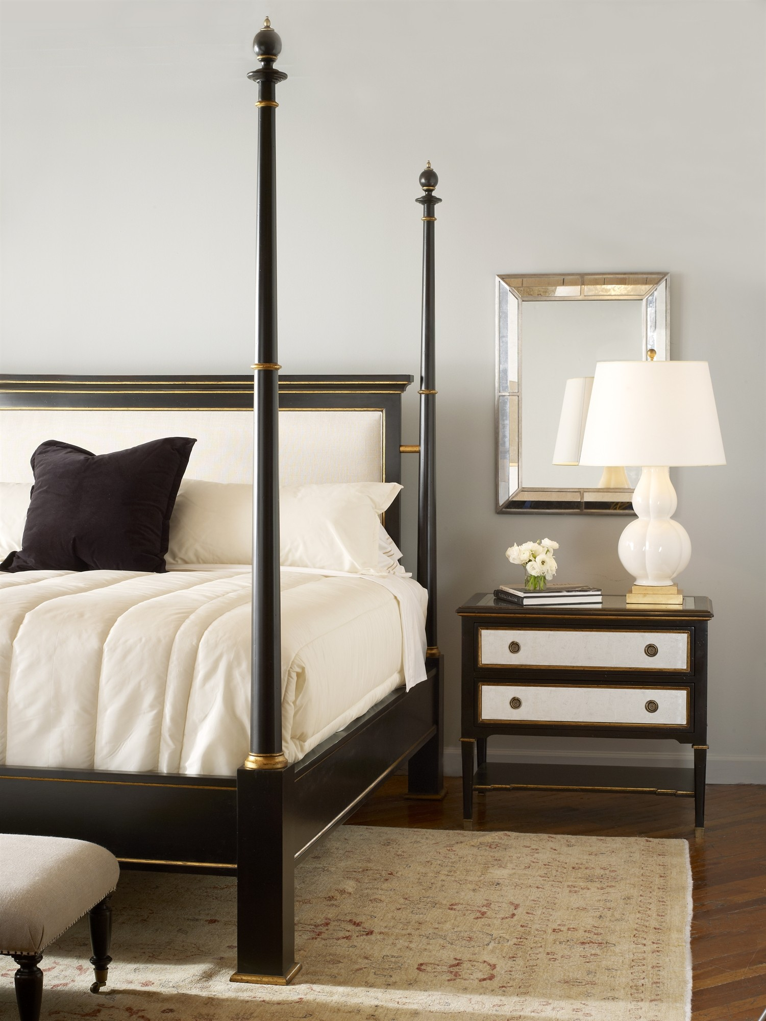 Barrington Poster Bed With Uph Headboard King Size 6 6