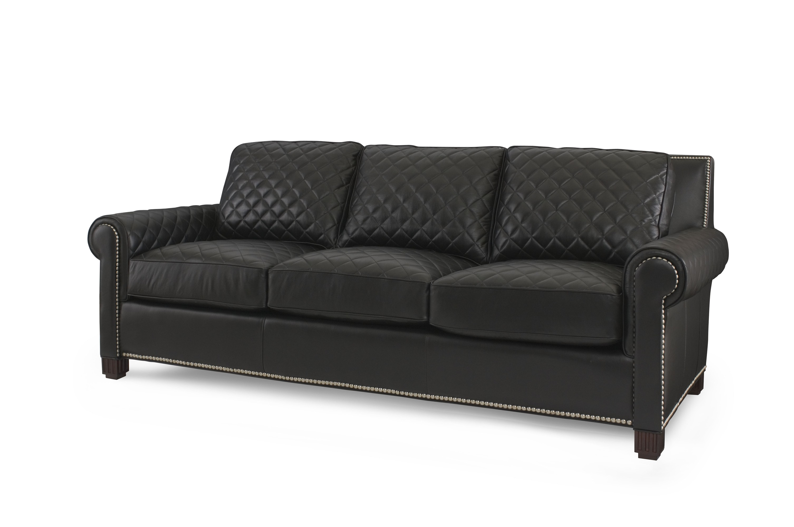 Leather Quilted Sofa