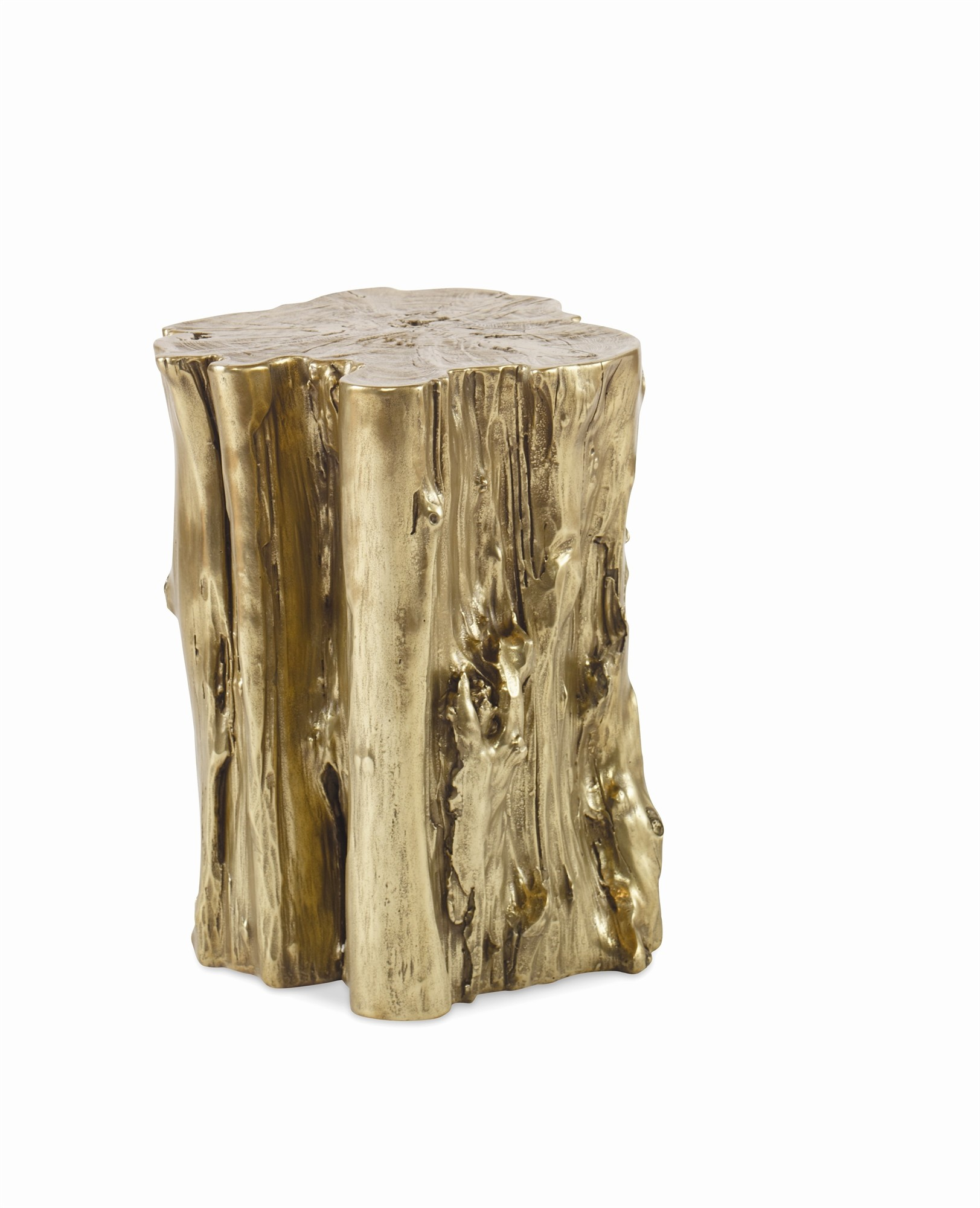 Yew Small Brass Side Table