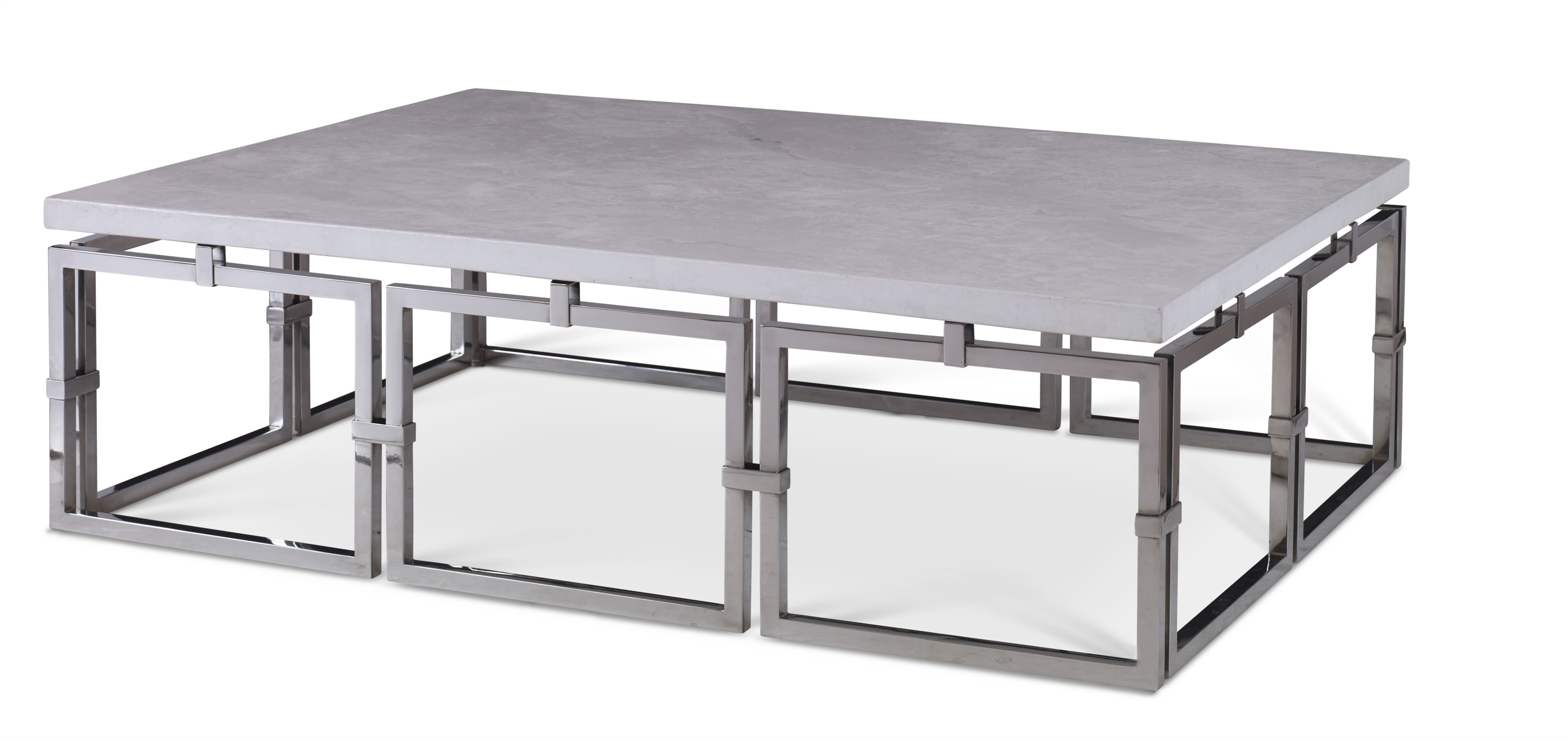 Links Cocktail Table - Stainless Steel