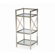 Metro Luxe Metal Bedside Stand