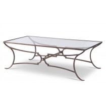 Maison '47 Metal Cocktail Table With Glass Top