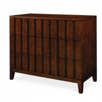 Casa Bella Louvered Drawer Chest - Sierra Finish