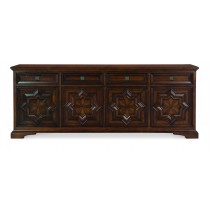 Casa Bella Carved Credenza - Sierra Finish