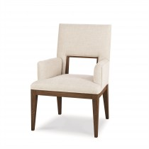 Casa Bella Upholstered Dining Arm Chair - Sierra Finish