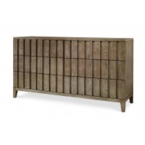 Casa Bella Louvered Dresser - Timber Gray Finish