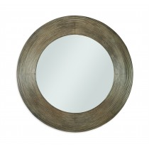 Casa Bella Reeded Mirror - Timber Gray Finish