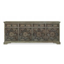 Casa Bella Carved Credenza - Timber Gray Finish