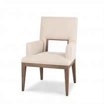 Casa Bella Upholstered Dining Arm Chair - Timber Grey Finish