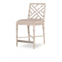 Brighton Counter Stool-Antique White/Flax