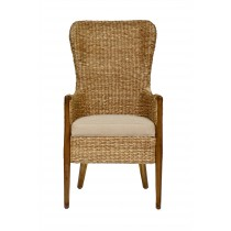 Seagrass Dining Chair-Flax