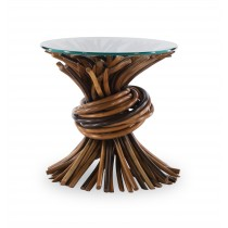 Knot End Table-Natural