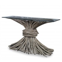 Knot Console Table - French Grey