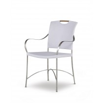 Canvas Arm Chair-Worn Ivory