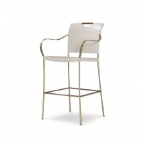 Canvas Bar Stool-Worn Ivory (Cv-040-408, C408-040)