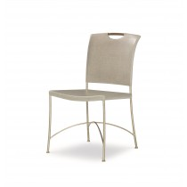 Canvas Side Chair-Dove Grey