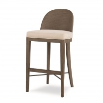 Tybee Bar Stool-Mink Grey/Flax