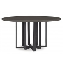 Fripp Round Dining Table-Mink Grey