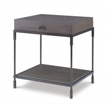 Westport End Table-Mink Grey