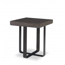 Baha End Table-Mink Grey