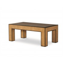 Newport Rectangular Coffee Table-Sand/Light Brown