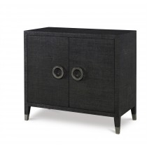 Charleston 2 Door Chest-Black