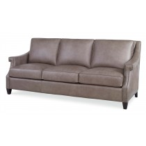 Transitional Leather Sofa 3/3