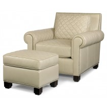 Lyndon Quilted Chair With Ottoman